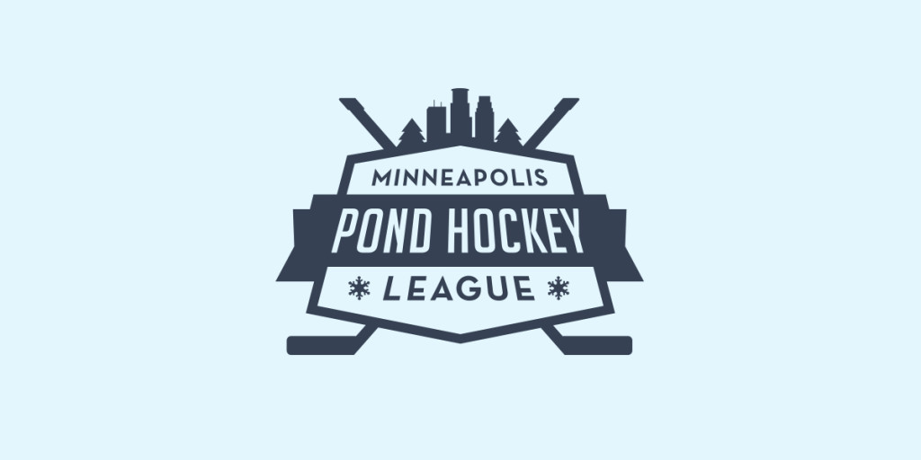 Minneapolis Pong Hockey League Logo, Matthew Wolff Design