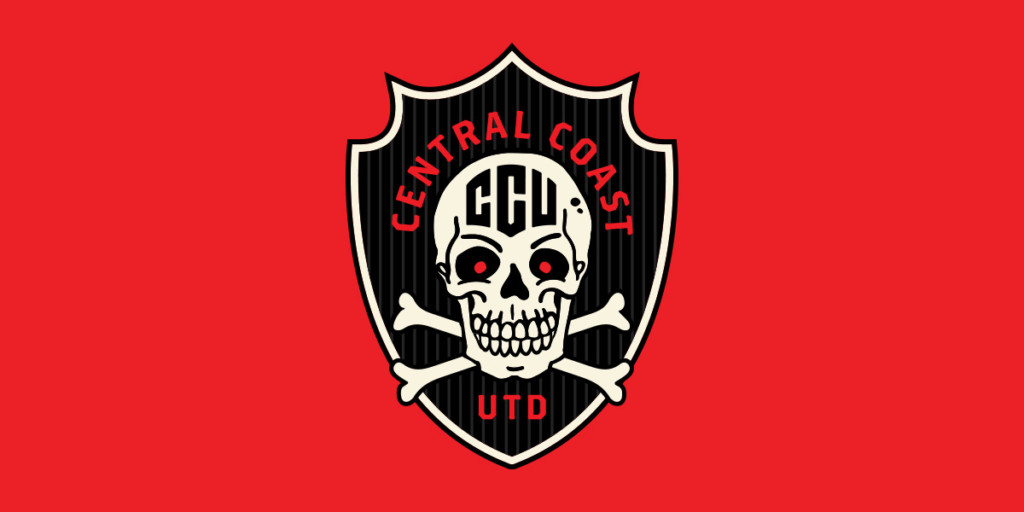 Central Coast United Football Club crest designed by Matthew Wolff, Australia, Soccer, Branding, Logo, Design, New South Wales
