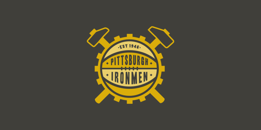 Pittsburgh Ironmen Logo, Matthew Wolff Design