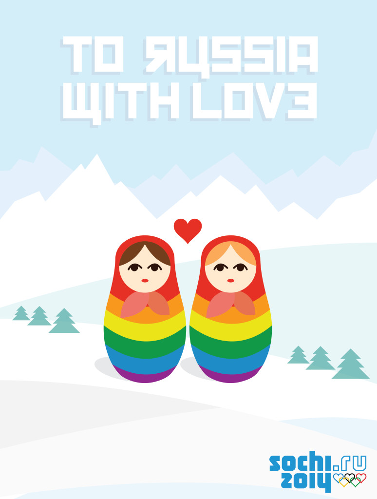 TO RUSSIA WITH LOVE by Matthew Wolff Design, Sochi 2014 winter olympics poster