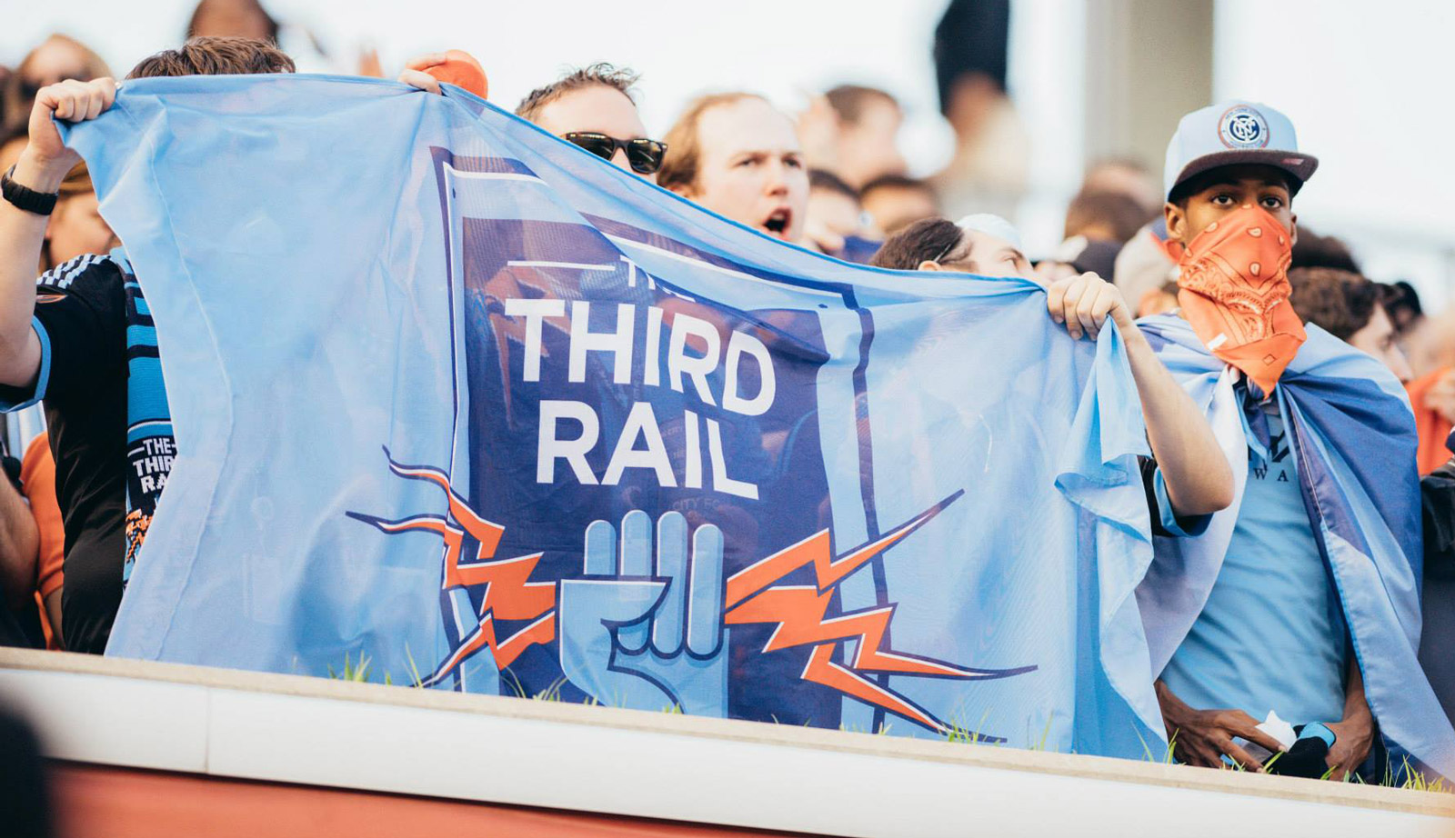 The Third Rail NYCFC Flag, Matthew Wolff Design