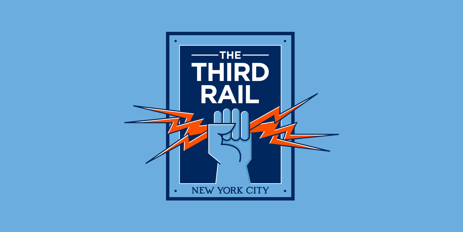 NYCFC, Supporters Club, The Third Rail logo by Matthew Wolff Design