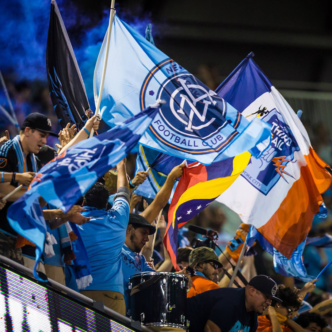 Third Rail, New York City FC, NYCFC Supporters vs Red Bulls at Red Bull Arena