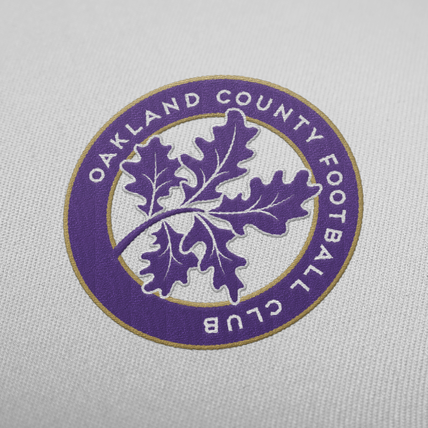 Matthew Wolff Design, Oakland County Football Club Embroidered Crest