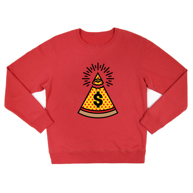 Dollar Slice NYC Sweatshirt, App, Pizza, New York City, Apparel, Matthew Wolff