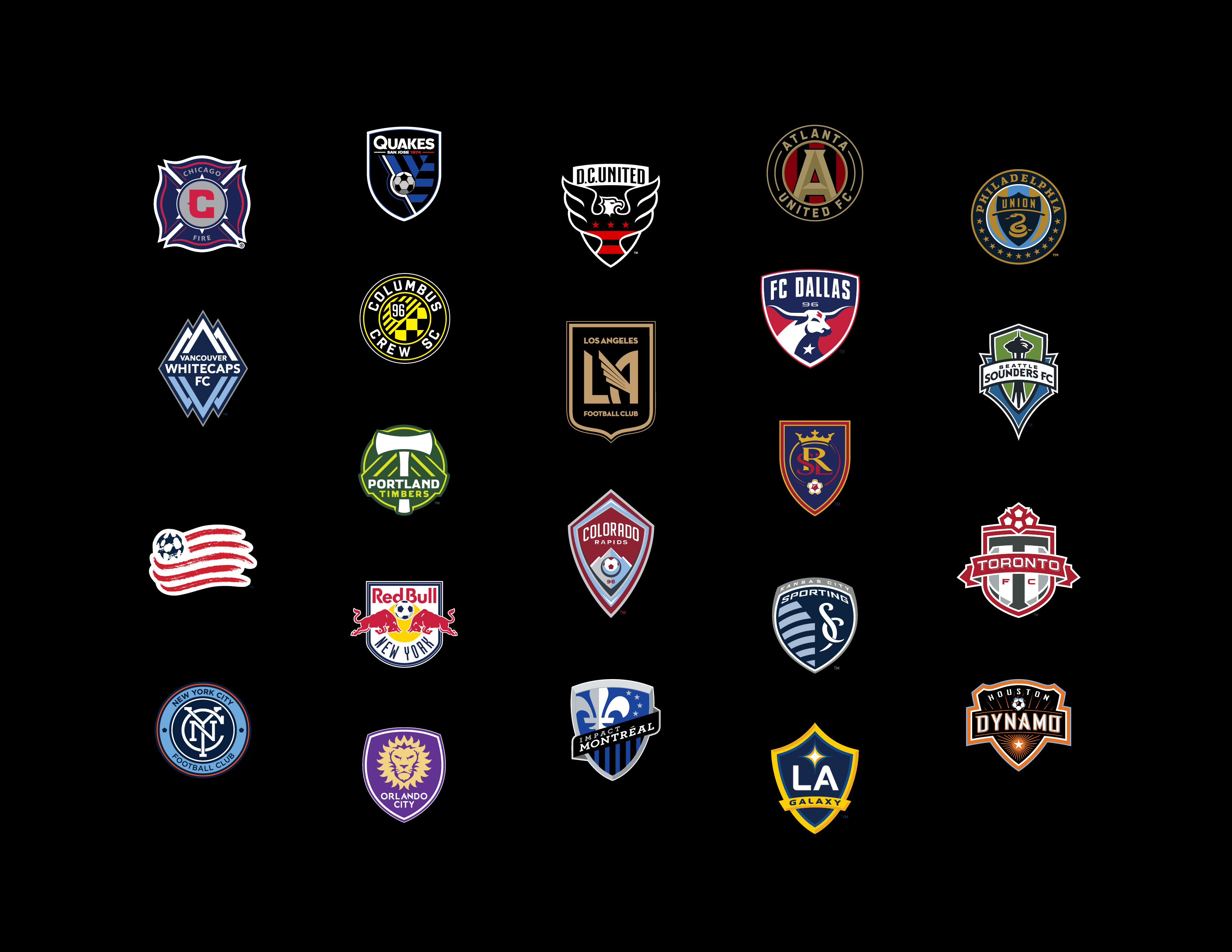 MLS logo, crest, badge, 2016, LAFC