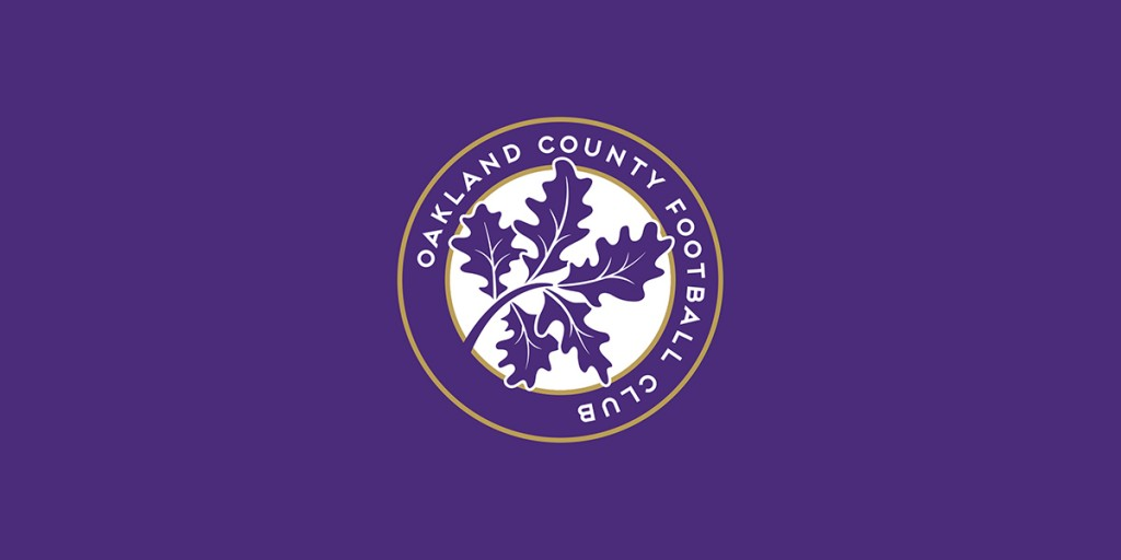 Oakland County Football Club crest designed by Matthew Wolff, Premier League of America
