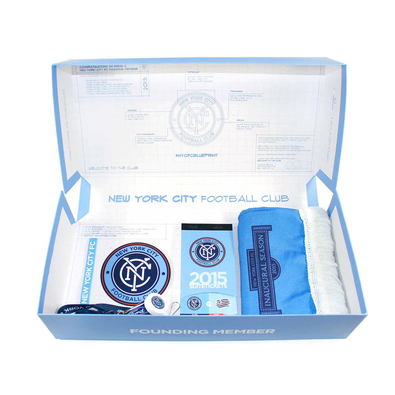 NYCFC Season Ticket Holder Box Packaging