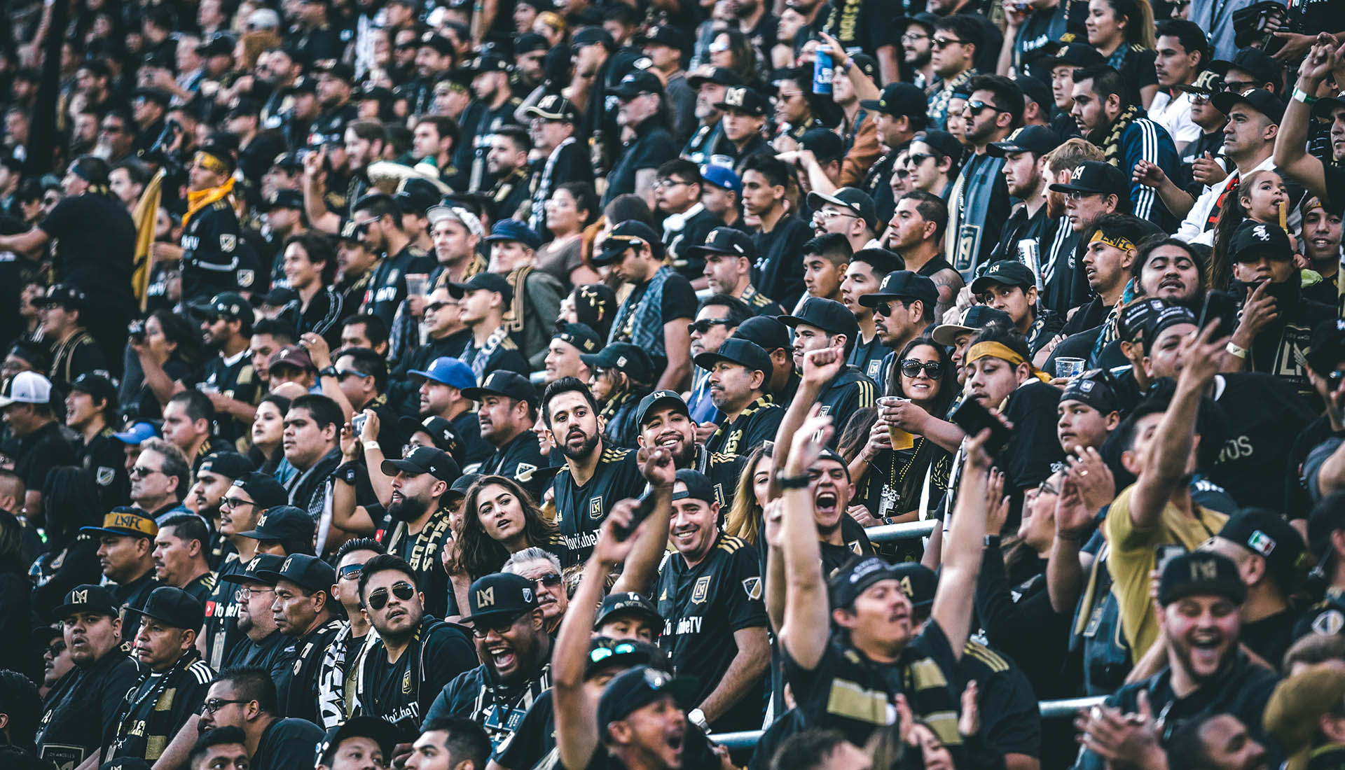 LAFC Fans at Home Opener