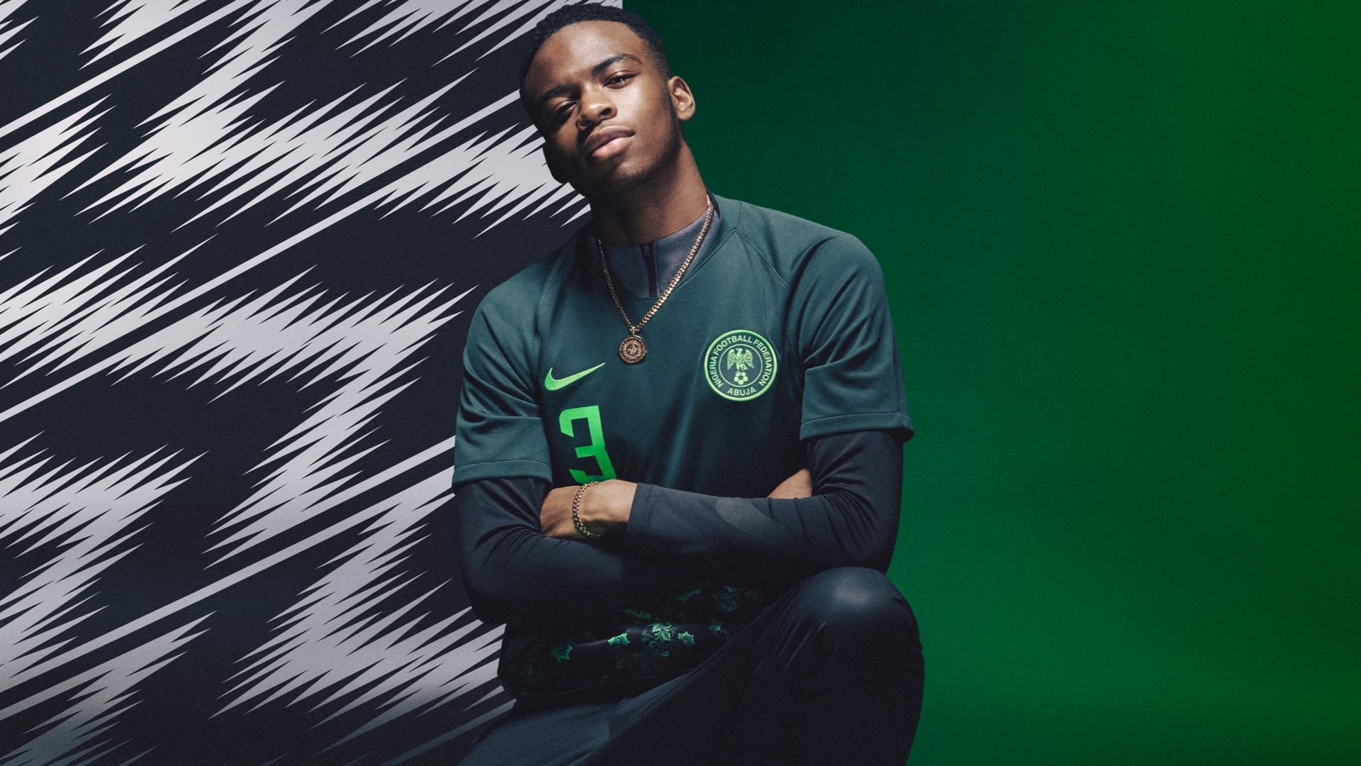 NAIJA Nigeria World Cup Nike Kits Jerseys Collection Matthew Wolff Design 2018 Super Eagles